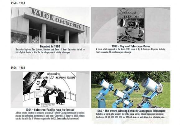 Istoria Celestron - 1960 - prezent